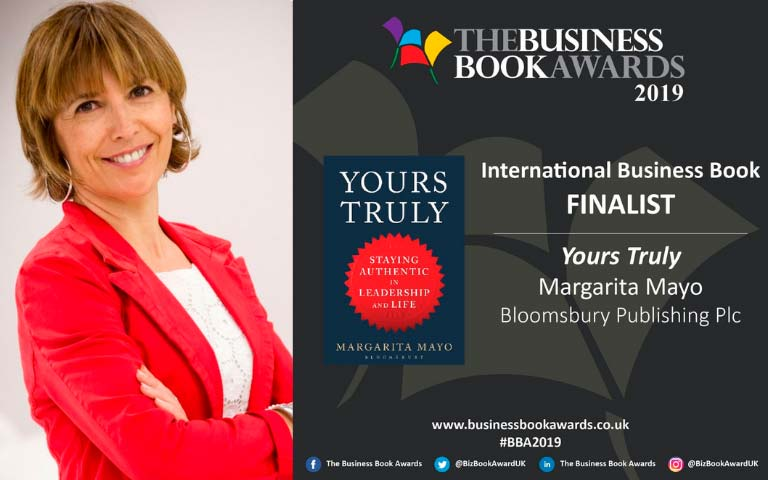 Margarita Mayo es finalista en los Business Book Awards de Bloomsbury
